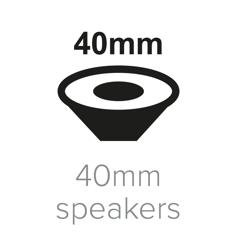 40mm speakers