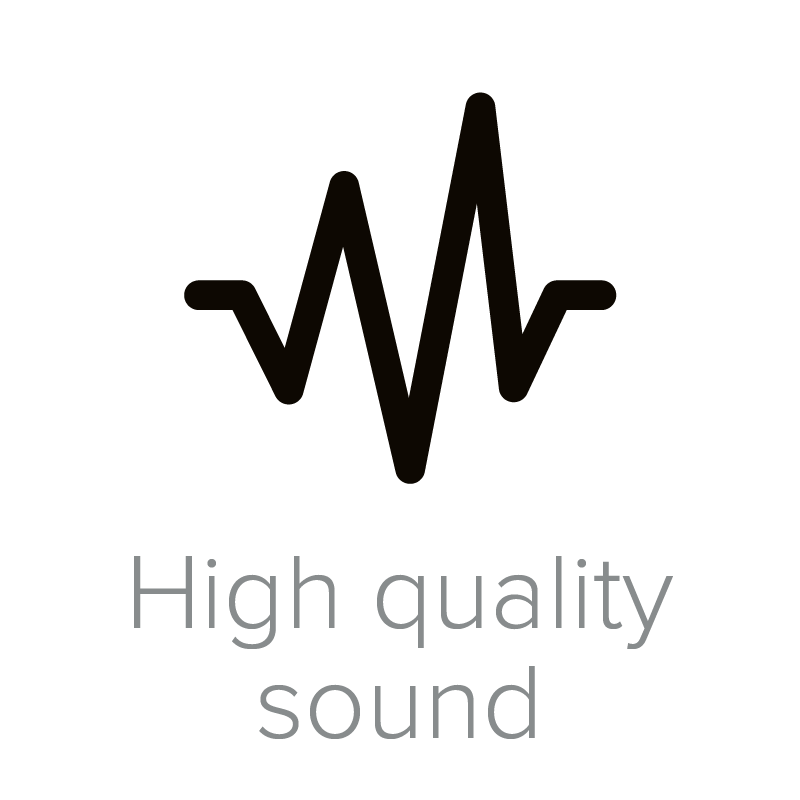 High quality sound