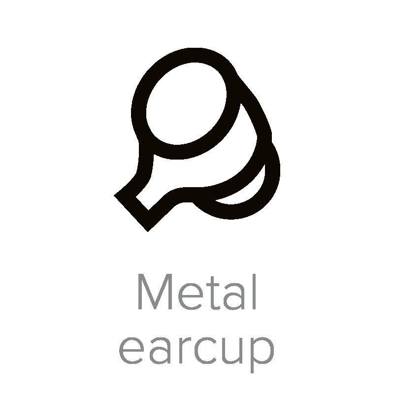 Metal earcup