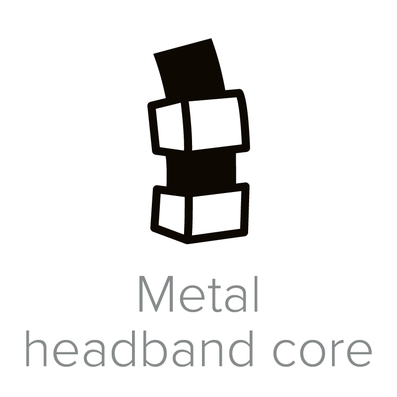 Metal headband core