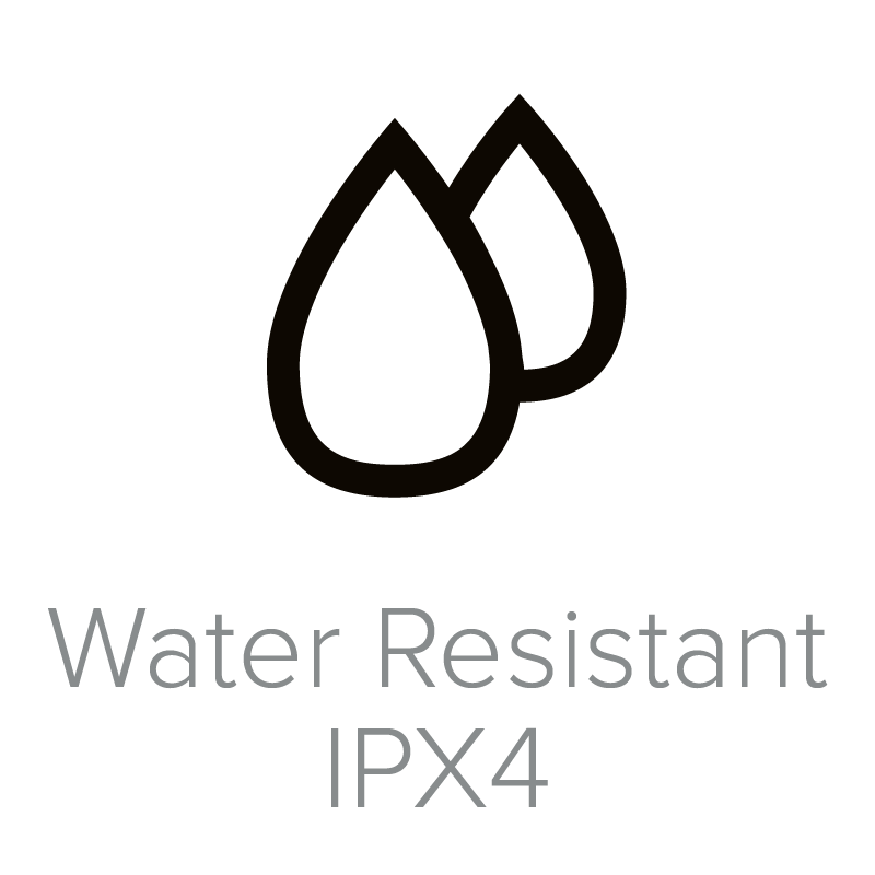 Water Resistant IPX4